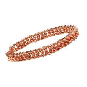 Copper Link Chain Bracelet
